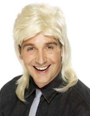 80s Fancy Dress - Jason Mullet Wig - Blonde